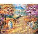 Прогулка по парку Раскраска картина по номерам на холсте