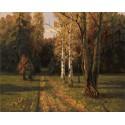 Проселочная дорога Раскраска картина по номерам на холсте