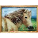 Лошадка Картина из шерсти с рамкой