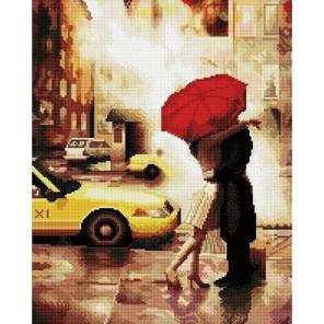 Под зонтом Алмазная мозаика вышивка на подрамнике Molly