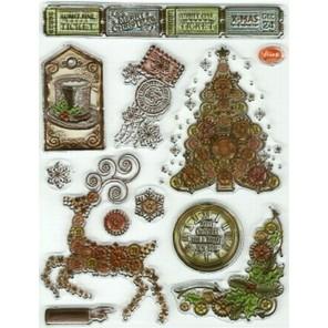 Рождественская ёлка Набор прозрачных штампов для скрапбукинга, кардмейкинга Viva Decor