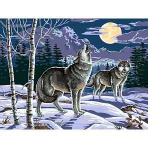 Ночные охотники Раскраска картина по номерам на холсте Белоснежка
