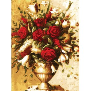 Элегантный букет Раскраска картина по номерам на холсте Белоснежка