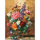 Роскошный букет Раскраска картина по номерам на холсте Белоснежка