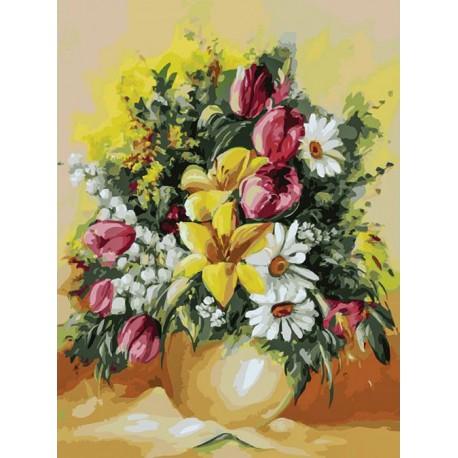 Душистый букет Раскраска картина по номерам на холсте Белоснежка