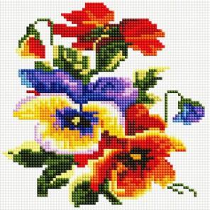 Цветочки Алмазная вышивка мозаика на подрамнике Белоснежка