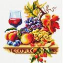 Натюрморт с виноградом Алмазная вышивка мозаика на подрамнике Белоснежка