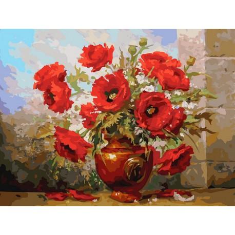Маки Раскраска картина по номерам на холсте Белоснежка