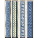 Голубые узоры Ленты бумажные для скрапбукинга, кардмейкинга K&Company