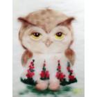 Влюбленная сова Картина из шерсти Toyzy