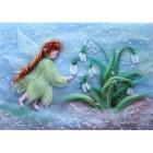 Цветочная фея Картина из шерсти Toyzy