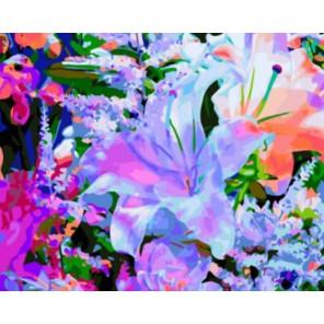 Лилия Раскраска картина по номерам на холсте