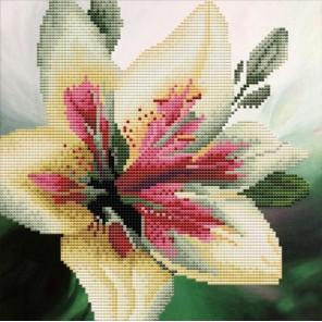 Лилия Алмазная частичная вышивка (мозаика) Color Kit