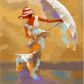 Пляжный зонтик Раскраска картина по номерам Color Kit