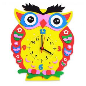 Сова часы Набор для творчества из фоамирана Color Kit