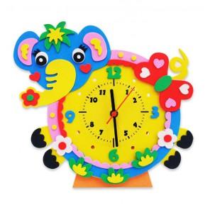 Слон часы Набор для творчества из фоамирана Color Kit