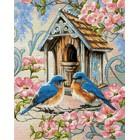 Выкладка алмазинками Семейное гнездышко Алмазная мозаика (вышивка) Гранни