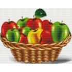 Яблоки в корзине Алмазная мозаика на подрамнике Цветной