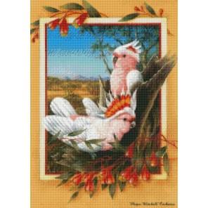 Попугайчики Алмазная мозаика на подрамнике Цветной