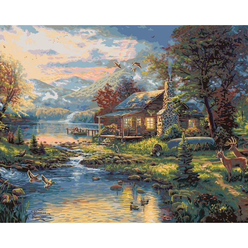 Рай на земле Раскраска картина по номерам Plaid PLAID PLD ...