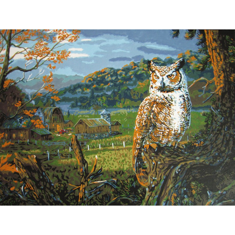 На исходе ночи (художник Терри Доути) Раскраска картина по ...