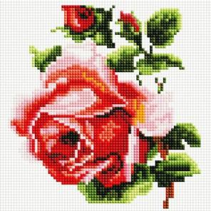 Изящная роза Алмазная вышивка мозаика на подрамнике Белоснежка