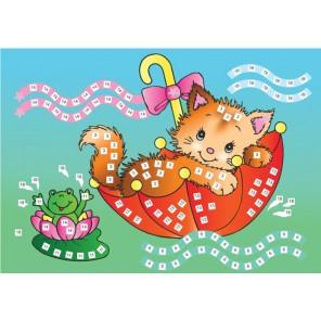 Котёнок Мозаика из стикеров Color Kit