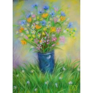 Полевые цветы Картина из шерсти Toyzy