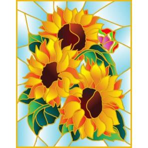 Букет подсолнухов Набор с рамкой для создания картины-витража Color Kit
