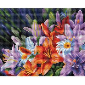 Лилии из сада Алмазная вышивка мозаика Белоснежка