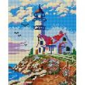 411-ST-PS Старый маяк Алмазная вышивка мозаика Белоснежка