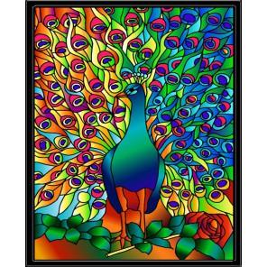 HG009 Жар-птица Набор с рамкой для создания картины-витража Color Kit