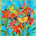 HS002 Бабочки Набор с рамкой для создания картины-витража Color Kit