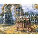Арка в саду Раскраска картина по номерам на холсте Color Kit