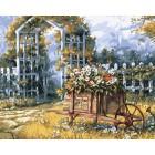 Арка в саду Раскраска картина по номерам акриловыми красками на холсте Color Kit