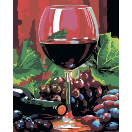 бокал вина раскраска картина по номерам на холсте Color Kit Cg797