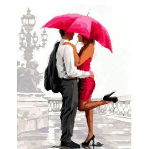 Под зонтом (художник Ричард Макнейл) Раскраска картина по номерам на холсте