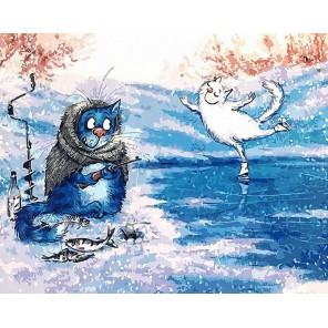 Январь Раскраска картина по номерам на холсте