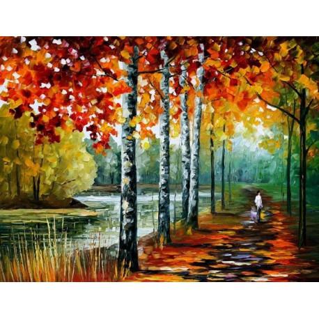 Осенний блюз Раскраска картина по номерам на холсте