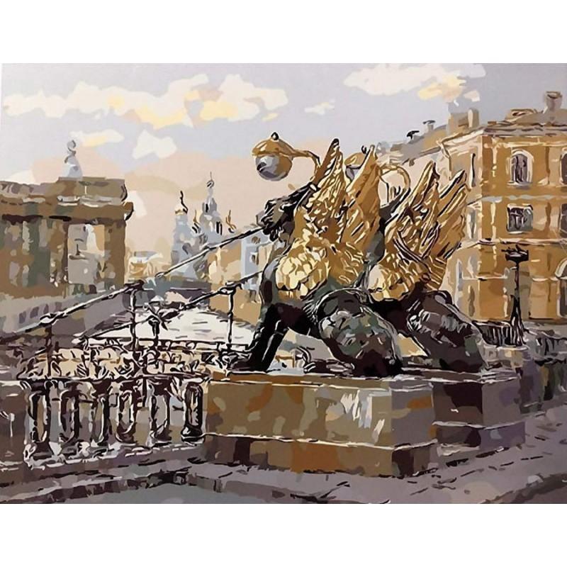 Раскраска по номерам Банковский мост. Санкт-Петербург ...
