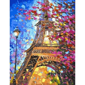 Парижская осень Раскраска картина по номерам на холсте