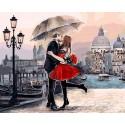 Венецианская любовь Раскраска картина по номерам на холсте