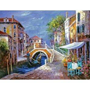 Уголок Венеции Раскраска картина по номерам на холсте