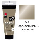 748 Серо-коричневый металлик Acryl Color акриловая краска Marabu