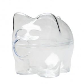 Поросенок-копилка без подвеса Фигурка разъемная из пластика для декорирования