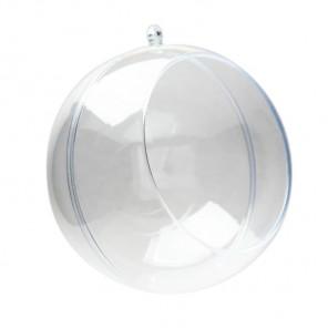 Шар 12см прозрачный с окном Фигурка разъемная из пластика для декорирования