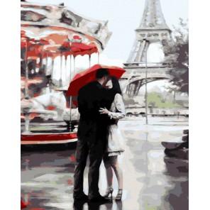 Наш Париж Раскраска картина по номерам на холсте