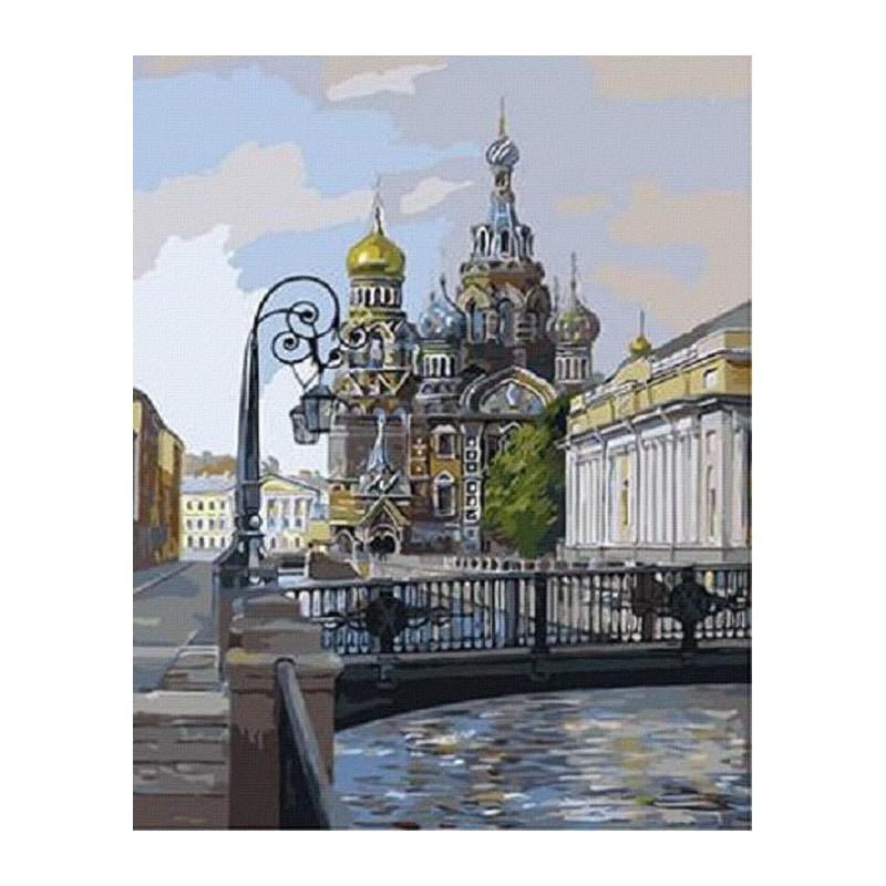 Раскраска по номерам Собор Спаса-на-Крови. Санкт-Петербург ...