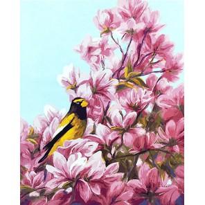 Цветение (художник Л. Билоду) Раскраска картина по номерам на холсте