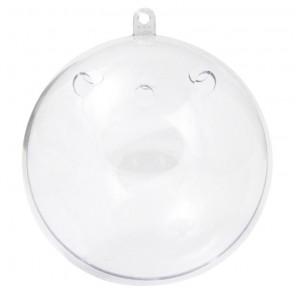 Шар-саше 8см прозрачный Фигурка разъемная из пластика для декорирования